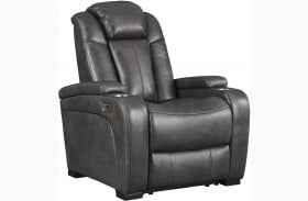 Turbulance Quarry Power Recliner with Adjustable Headrest