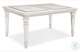 Glimmering Heights Ivory Rectangular Extendable Dining Table