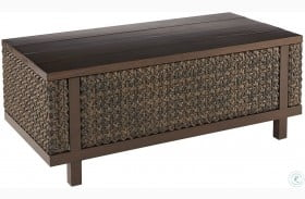 Epicenters Ebony Greenwick Rectangular Outdoor Coffee Table