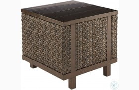 Epicenters Ebony Greenwick Outdoor End Table
