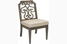 Arch Salvage Branch Finish Gabrielle Outdoor Armless Dining Chair Set of 2