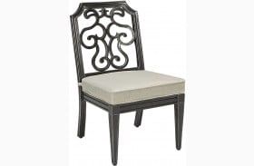 Arch Salvage Garden Gate Finish Gabrielle Outdoor Armless Dining Chair Set of 2