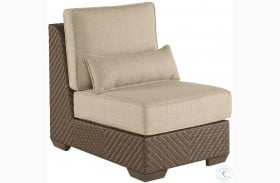 Arch Salvage Sweet Grass Florence Outdoor Wicker Armless Chair