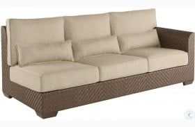 Arch Salvage Sweet Grass Florence Outdoor Wicker RAF Sofa