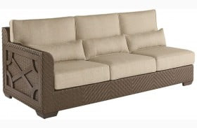 Arch Salvage Sweet Grass Finish Florence Wicker LAF Sofa
