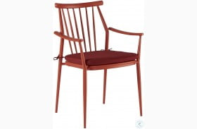 Epicenters Austin Paint Red Darrow Outdoor Arm Chair Set of 2