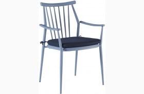 Epicenters Austin Paint Blue Finish Darrow Outdoor Arm Chair Set of 2