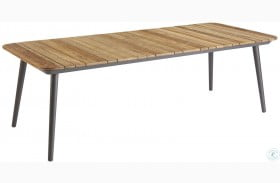 Epicenters Austin Black Darrow Outdoor Rectangular Dining Table