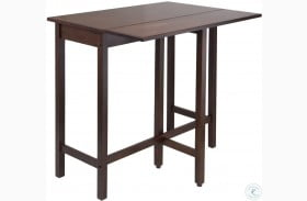 Lynnwood Antique Walnut Drop Leaf Extendable Counter Height Dining Table