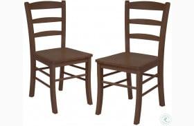 Benjamin Walnut Ladder Back Side Chair Set of 2
