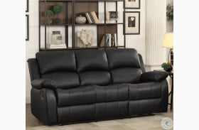 Clarkdale Black Double Reclining Sofa with Drop Down Table