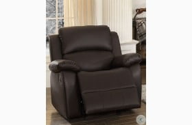 Clarkdale Dark Brown Glider Reclining Chair