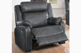 Yerba Dark Gray Lay Flat Reclining Chair