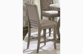 Vermillion Neutral Tone Cream Counter Height Chair Set Of 2