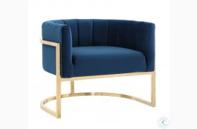 Magnolia Navy and Gold Chair