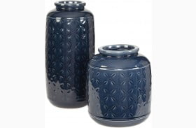 Marenda Navy Blue Vase Set of 2
