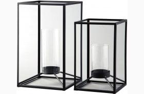 Dimtrois Black Lantern Set of 2