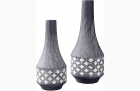 Dornitilla Black and White Vase Set of 2