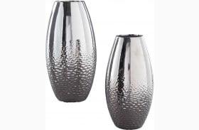 Dinesh Silver Vase Set of 2