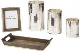 Dexton Mercury Glass Brown Accessory Set of 5