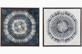 Monterey Blue and White Wall Art Set of 2