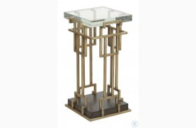 Woodwright Bronze Risom Spot Table