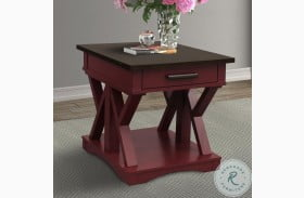 Americana Modern Cranberry End Table