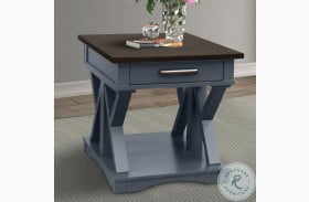 Americana Modern Denim End Table