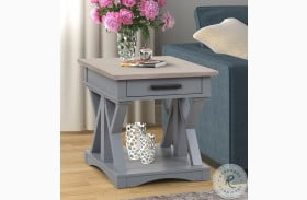 Americana Modern Dove End Table