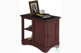 Americana Modern Cranberry Chairside End Table
