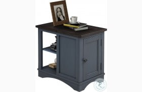 Americana Modern Denim Chairside End Table