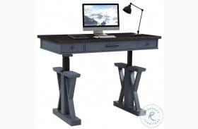 "Americana Modern Denim 56"" Power Lift Desk"