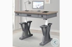 "Americana Modern Dove 56"" Power Lift Desk"