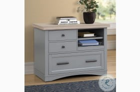 Americana Modern Dove Functional File Cabinet With Power Center