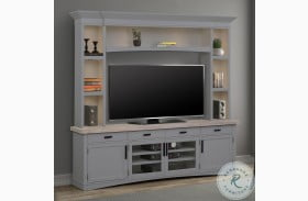 Americana Modern Dove Entertainment Wall