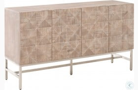 Atlas Traditions Natural Gray Stainless Steel Media Sideboard