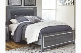 Lodanna Gray Upholstered Panel Bed