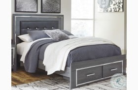 Lodanna Gray Upholstered Storage Panel Bed