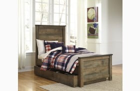 Trinell Brown Youth Storage Panel Bed