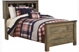 Trinell Brown Twin Bookcase Bed
