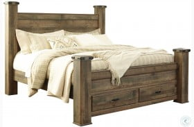 Trinell Poster Storage Bed