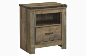 Trinell Brown One Drawer Nightstand