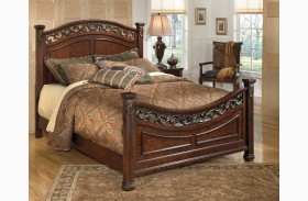 Leahlyn Warm Brown Poster Bed