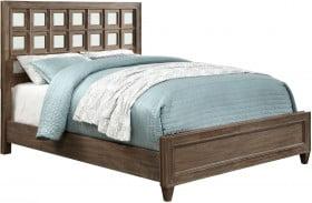Frontera Rustic Oak Full Panel Bed
