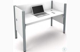 "Pro-Biz 43"" White Simple Workstation"