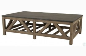 Blue Smoke Gray and Blue Stone Coffee Table