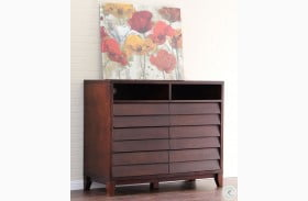 Island Mocca 6 Drawer Entertainment Chest