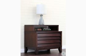 Island Mocca 2 Drawer Nightstand
