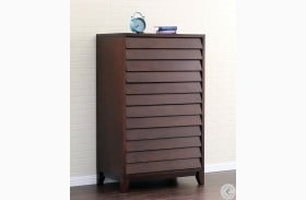 Island Mocca 5 Drawer High Chest