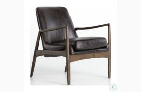 Ashford Durango Smoke Braden Leather Chair